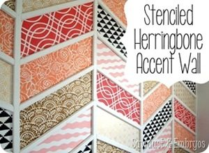 Stenciled-Herringbone-Accent-Wall-Sawdust-and-Embryos