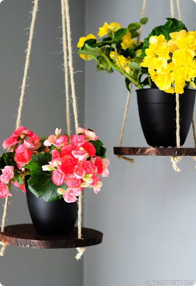 Sprucing Up For Spring Diy Plant Hanger All Things Thrifty