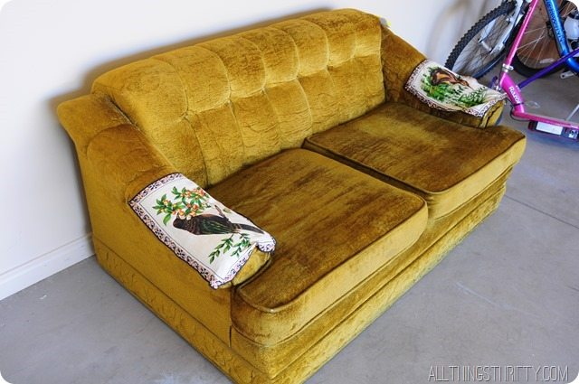 thrift store couch