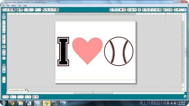 I love baseball silhouette