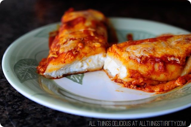 Red Sauce Chicken Enchilada Recipe with Cream Cheese
