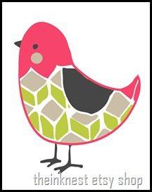 pink bird new