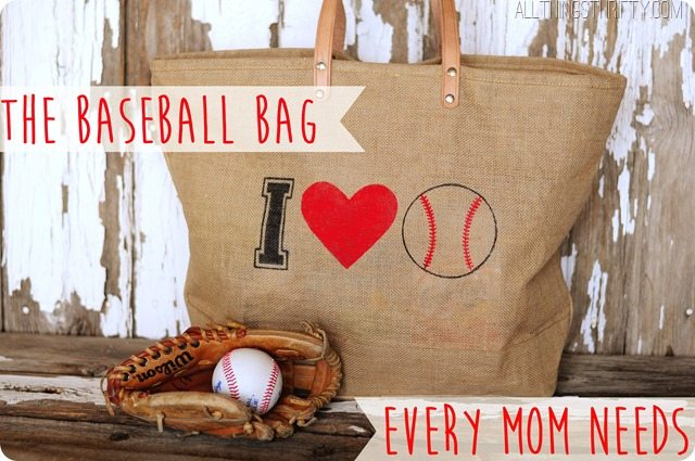 DIY Baseball Mom Bag