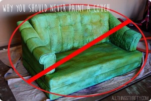 Bad Ideas by Brooke {Never Paint a Couch}