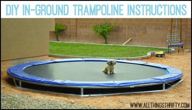 In-ground trampoline diy how to install an in-ground trampoline.