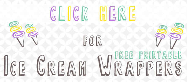 Four Free Printable Ice Cream Cone Wrappers Download | All things Thrifty contributor Trisha D from Black and White Obsession