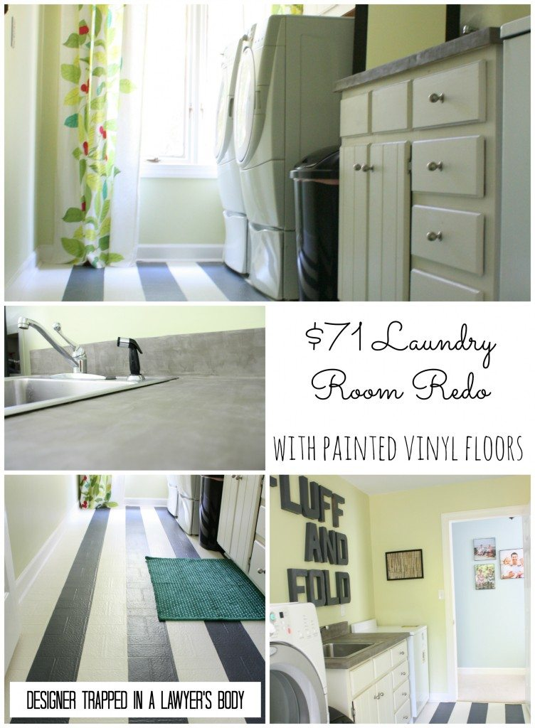 Thrifty Laundry Room Makeover