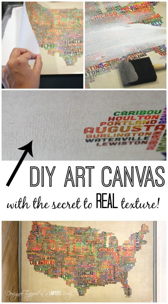 Diy art canvas with real texture Diy canvas art