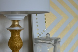 Modern White and Gold Lamp