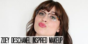 Zoey Deschanel Inspired Makeup