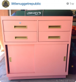 Painting Filing Cabinets with Lacquer {Peach and Coral!}