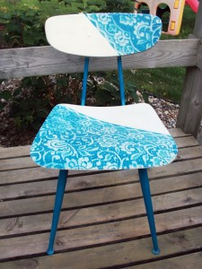 Lace painted school chair