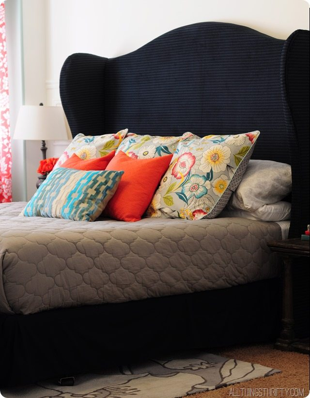 diy wingback headboard tutorial with free pattern