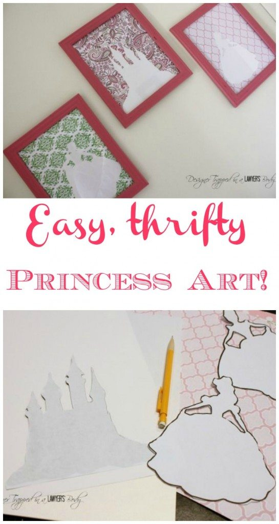 SO CUTE!  Thrifty silhouette art that is so easy!  Full tutorial by Designer Trapped in a Lawyer's Body for All Things Thrifty!