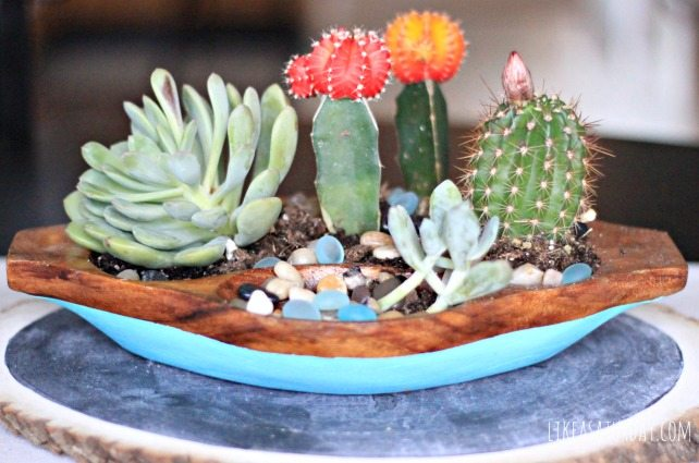 Paint Dipped Succulent Planter -- Like a Saturday for All Things Thrifty