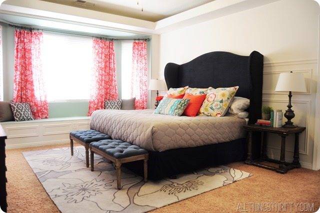 purchase cheap 02eb1 43d7a DIY Wingback Headboard Tutorial with FREE pattern | All ...