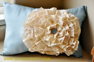 lace ruffle pillow