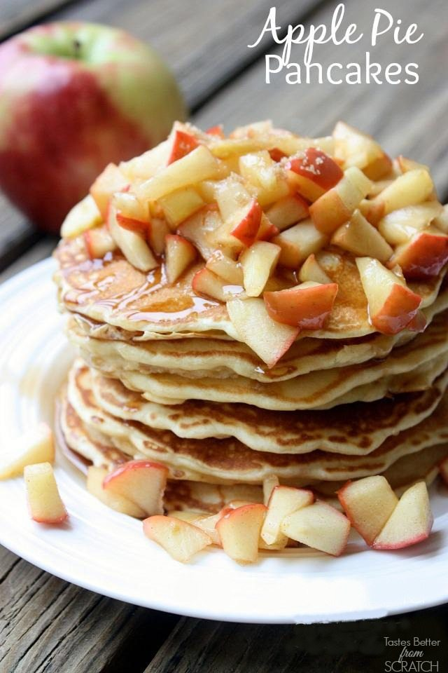Apple Pie Pancakes from TastesBetterFromScratch.com on All Things Thrifty