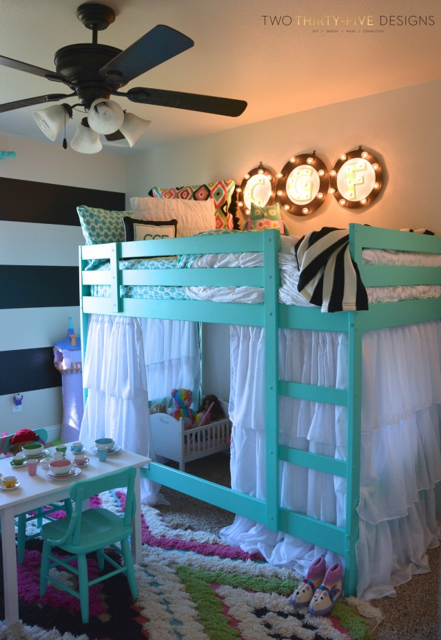 Ikea Bunk Bed Hack TwoThirtyFiveDesigns