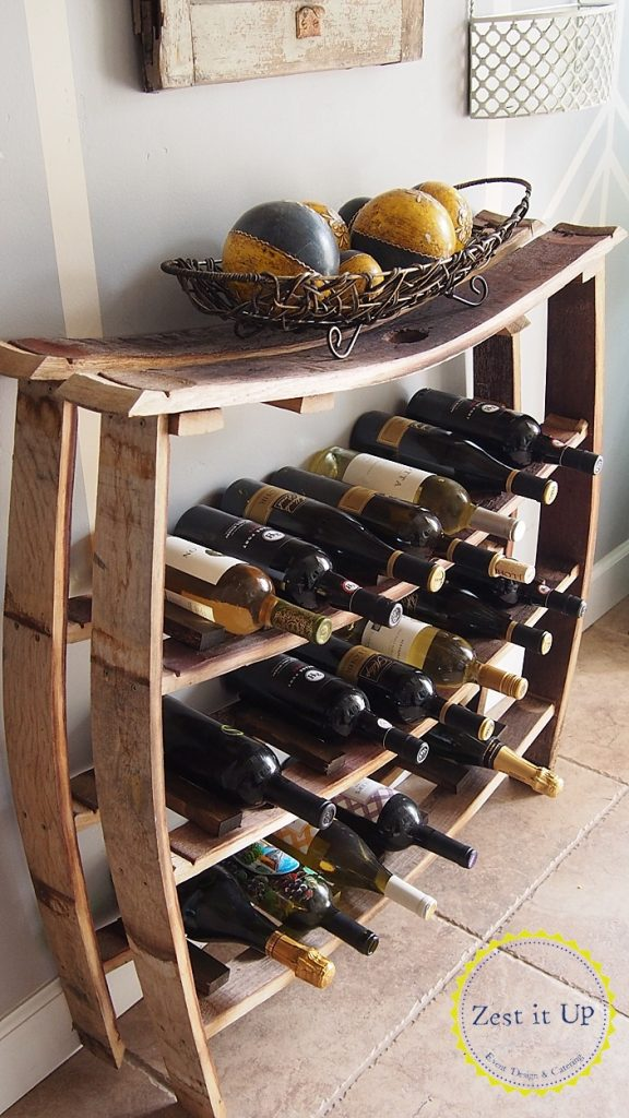 Wine Barrel Stave Wine Rack All Things Thrifty