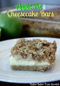 Apple Pie Cheesecake Bars from TastesBetterFromScratch.com