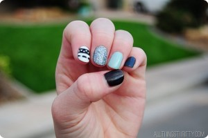 cute-fingernail-polish-ideas-mint-black-white-silver.jpg