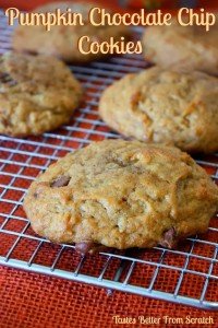 Pumpkin Chocolate Chip Cookies from Tastes Better From Scratch.com