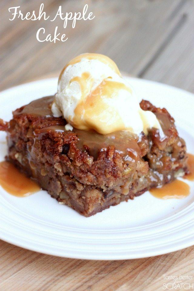 Raw Apple Walnut Cake Recipe
