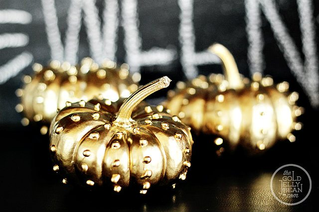 Gold-Studded-Pumpkins-Detail