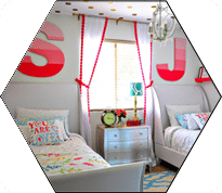 coral-gold-and-teal-little-girls-room