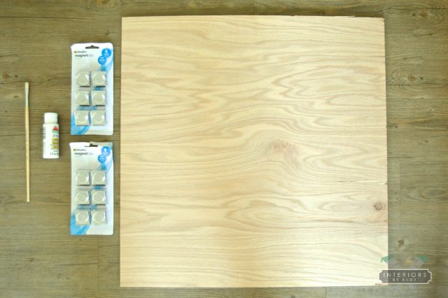 diy memo board supplies