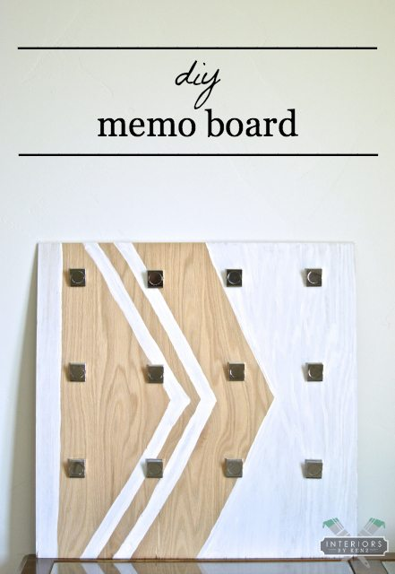 diy memo_board
