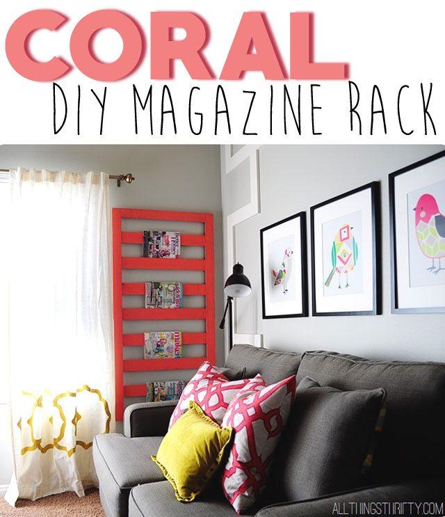 DIY-Coral-Magazine-Rack