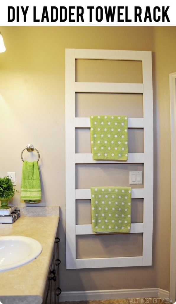 Diy Towel Rack And Manly Help All Things Thrifty