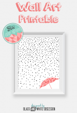 Free Printable: Rain and Snow Wall Art