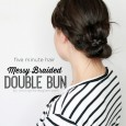 Messy Braided Double Bun by www.girllovesglam.com