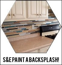 PAINT your backsplash to look like tile!!