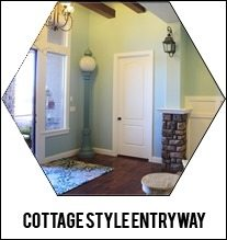 cottage style entry way