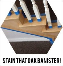 how-to-stain-an-oak-banister