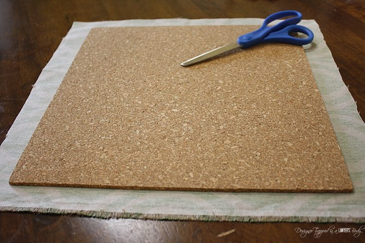 Diy Fabric Covered Cork Board Tiles All Things Thrifty