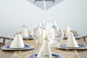 DIY Napkin Teepee place setting