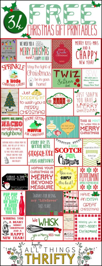 graphic about We Wash You a Merry Christmas Free Printable known as Xmas Reward Options Working day 4! All Factors Thrifty
