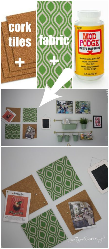 diy fabric covered cork tiles so easy and stylish by designer