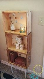 Old Drawer Bookshelf with Foiled Polka Dots