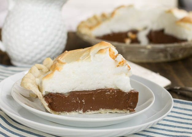 Old-Fashioned Chocolate Meringue Pie from Spicy Southern Kitchen