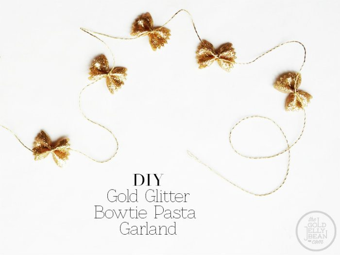 DIY-Gold-Glitter-Bowtie-Pasta-Garland