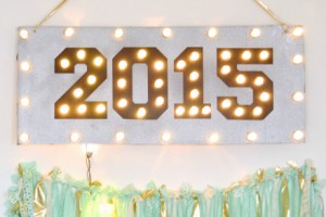 DIY Upcycled New Year's Eve Marquee