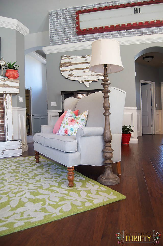 Coral and Green Living Room Decor (17 of 35)