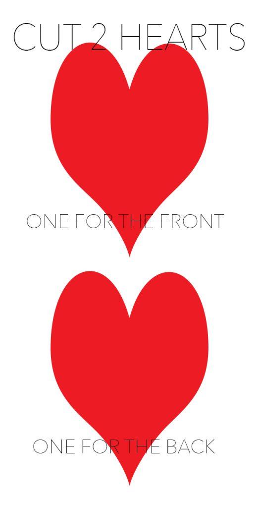 Cut 2 hearts