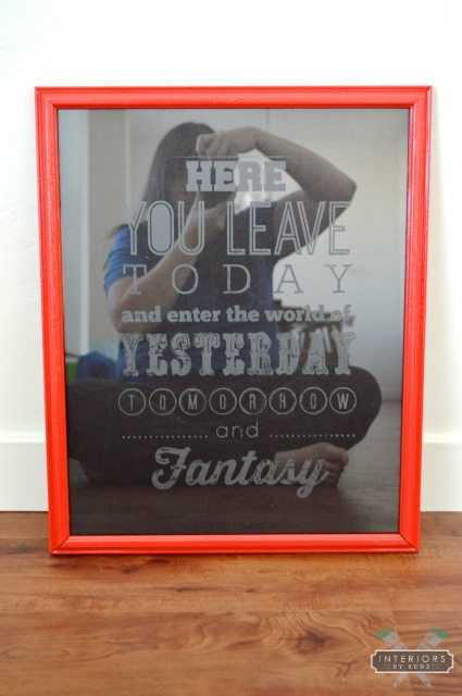 Etched Glass Picture Frame | All Things Thrifty
